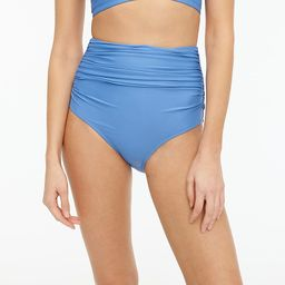 High-waisted ruched bikini bottom | J.Crew US