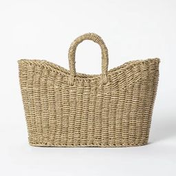 """16"""" x 6"""" x 13"""" Tapered Oval Seagrass Braided Basket Natural - Threshold™ designed with Studio M... 