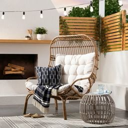 Wicker & Metal Patio Egg Chair - Threshold™ designed with Studio McGee   Target