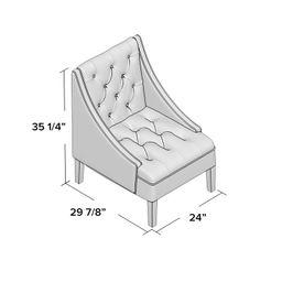 Raelyn 24'' Wide Tufted Side Chair | Wayfair Professional
