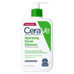 CeraVe Hydrating Facial Cleanser   Moisturizing Non-Foaming Face Wash with Hyaluronic Acid, Ceram...   Amazon (US)