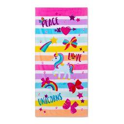 Peace Love Beach Towel Pink - JoJo Siwa   Target