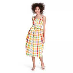 Plaid Wide Strap Tie Waist Dress - Christopher John Rogers for Target | Target