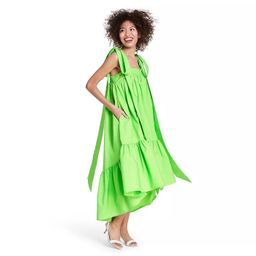 Tie Strap High-Low Babydoll Dress - Christopher John Rogers for Target Green | Target
