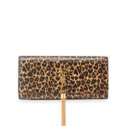 Kate Leopard-Print Tassel Clutch | Neiman Marcus