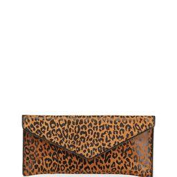 Leo Leopard-Print East-West Clutch Bag | Neiman Marcus