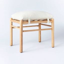Emery Wood and Upholstered Ottoman with Straps - Threshold™ designed with Studio McGee | Target