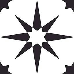 FloorPops FP2948 Altair Peel & Stick Floor Tile, Black | Amazon (US)