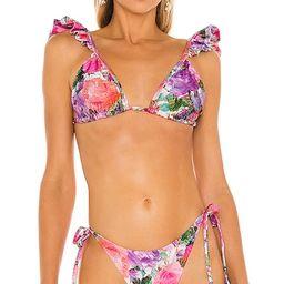 Blossom Ruffle Bikini Top   Revolve Clothing (Global)
