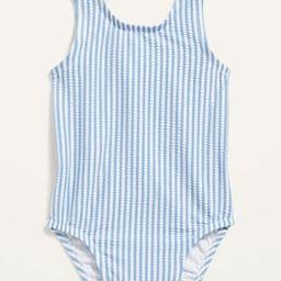 Seersucker-Stripe Ruffle-Trim Swimsuit for Baby   Old Navy (US)
