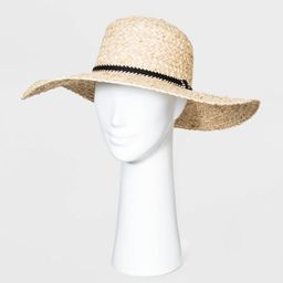 Women's Straw Boater Hats - Universal Thread™ Natural One Size | Target