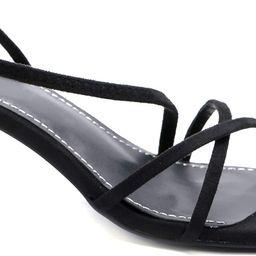 Greatonu Women Low Kitten Heels Square Toe Sandal Court Shoes   Amazon (US)
