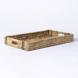 Manmade Outdoor Wicker Tray Gray Stripes - Threshold™ designed with Studio McGee | Target