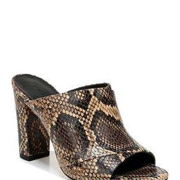 Heath Snake Print Leather Block Heel Mule   Nordstrom Rack