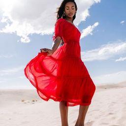 Chiffon Summer Dress - Berry Red | Rachel Parcell