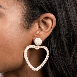 Crochet Heart Earring - Natural | Rachel Parcell