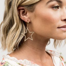 Pave Star Earring - Gold | Rachel Parcell