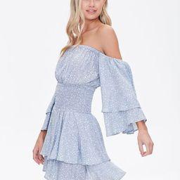 Spotted Off-the-Shoulder Dress | Forever 21 (US)