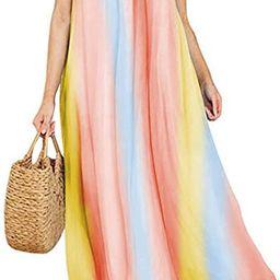 ZANZEA Women's Florla Summer Maxi Dress Spaghetti Strap Bohemian Long Casual Dresses Beach Sundre... | Amazon (US)