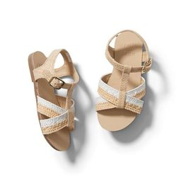 Colorblocked Straw Sandal | Janie and Jack