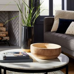 "12"" x 4"" Decorative Paulownia Wood Bowl Beige - Threshold™ designed with Studio McGee | Target"