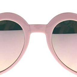 Womens Heart Shape Color Mirror Cat Eye Plastic Groovy Sunglasses | Amazon (US)