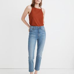 The Tall Perfect Vintage Crop Jean in Clymer Wash   Madewell