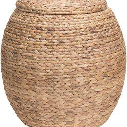 Household Essentials Ml-4105 Barrel Storage Tub W-Lid   Water Hyacinth   Amazon (US)
