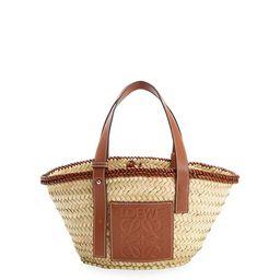 Loewe x Paula's Ibiza Woven Palm Leaf Basket Tote Bag | Neiman Marcus