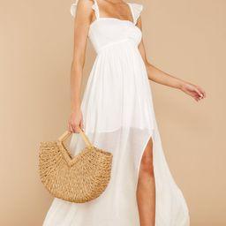 Want Me Back White Maxi Dress   Red Dress