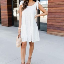 Lifetime Of Joy Dress White   The Pink Lily Boutique