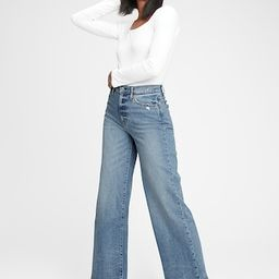 Sky High Wide-Leg Jeans With Washwell™   Gap (US)