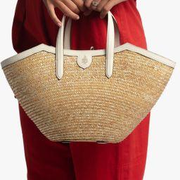 Madeline Straw & Leather Basket Bag | Olivela