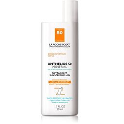 La Roche-Posay Anthelios Mineral Ultra-Light Fluid Broad Spectrum SPF 50, Face Sunscreen with Zin... | Amazon (US)