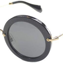 Miu Miu Women's MU 13NS Designer Sunglasses, Black | Amazon (US)