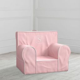 My First Pink Twill with White Piping Anywhere Chair(R) | Pottery Barn Kids