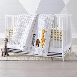 Safari Animal Baby Quilt + Reviews | Crate and Barrel | Crate & Barrel