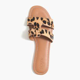 Calf hair beachside slide sandals | J.Crew Factory