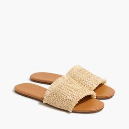 Raffia slide sandals | J.Crew Factory