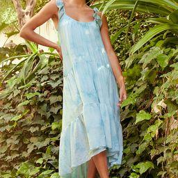 Come Drift Away Blue Multi Tie-Dye Ruffled Tiered Midi Dress | Lulus (US)