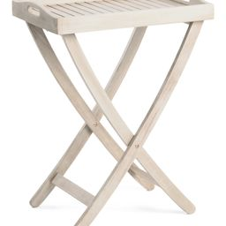 Indoor Outdoor Acacia Wood Table   TJ Maxx