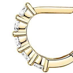PAVOI 14K Gold Plated Sterling Silver Post 2.5mm Wide Cubic Zirconia Cuff Earrings Huggie Stud | Amazon (US)