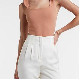 Tie Strap Square Neck Thong Bodysuit | Express