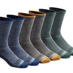 Dickies Men's Dri-tech Moisture Control Crew Socks Multipack, Heathered Colored (6 Pairs), Shoe S... | Amazon (US)