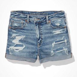 AE Stretch Crossover Denim Mom Shorts   American Eagle Outfitters (US & CA)
