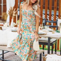 Love Struck Dress - Orange Floral | Hazel and Olive