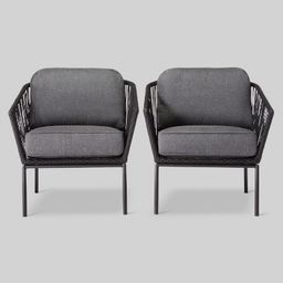 Standish 2pk Patio Club Chair Black/Gray - Project 62™   Target