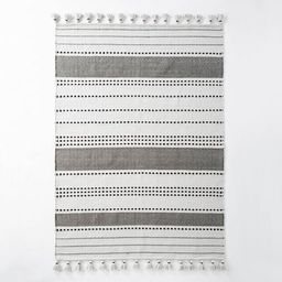 Indoor/Outdoor Neutral Stripes Rug Gray - Hearth & Hand™ with Magnolia   Target