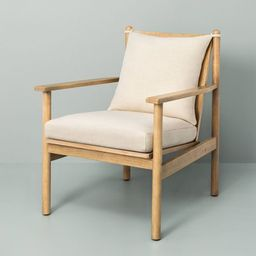 Slatted Wood Accent Chair with Cushion - Hearth & Hand™ with Magnolia   Target