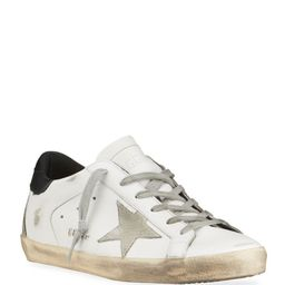Golden Goose Superstar Mixed Leather Sneakers | Neiman Marcus